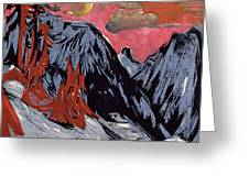 Mountains In Winter Greeting Card