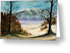 Mountains Landscape Oil Painting Greeting Card