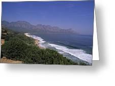 Mountains Meet Ocean On The Garden Greeting Card