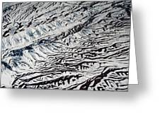 Mountains Patterns. Aerial View Greeting Card