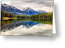 Mountains Reflected In The Lake Greeting Card