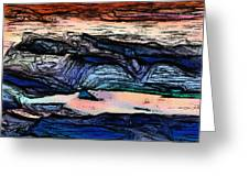 Mountains Valleys And Lake Greeting Card