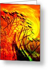 Mountainside Firestorm Greeting Card