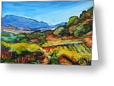 Mountainside Vineyard Greeting Card