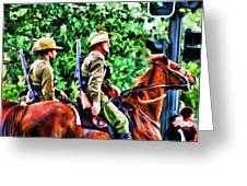 Mounted Infantry Greeting Card