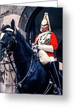 Mounted Life Guard Greeting Card