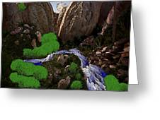 Mountine River Greeting Card