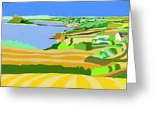 Mounts Bay Cornwall Greeting Card