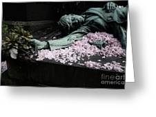 Mourner Statue Greeting Card