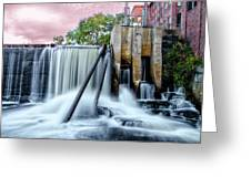 Mousam River Waterfall In Kennebunk Maine Greeting Card