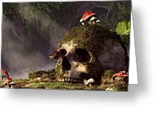 Mouse In A Skull Greeting Card