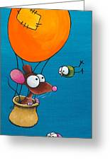 Mouse In His Hot Air Balloon Greeting Card