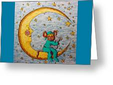 Mouse On The Moon Greeting Card