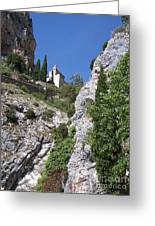 Moustier St. Marie Church Greeting Card