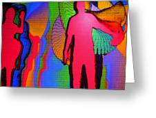Human Movement In Color Greeting Card