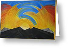 Movement Of A Sunset Greeting Card
