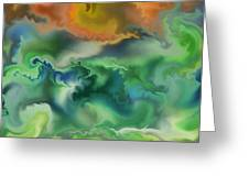Movement Of The Natural World Greeting Card
