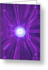 Moveonart Abstract Cross In Purple Greeting Card