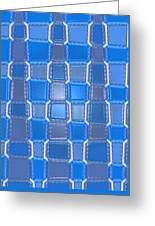 Moveonart  Blue Bricks Greeting Card