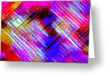 Moveonart Colorful Fast Paced Evening Greeting Card