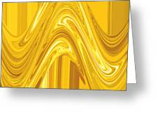 Moveonart Golden Light Wave Greeting Card