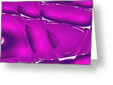 Moveonart Inverted Waves Bubbles And Light In Violet 2 Greeting Card