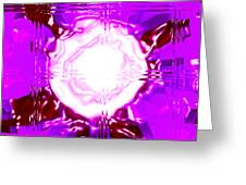 Moveonart Light Saturation With Pink Greeting Card