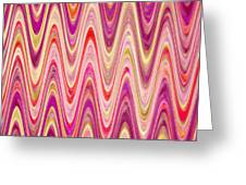 Moveonart Lively Waves Of Joy Greeting Card