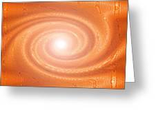 Moveonart Movement In Orange 3 Greeting Card