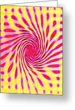 Moveonart Neon Twist 1 Greeting Card