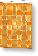 Moveonart Orange Bricks Greeting Card