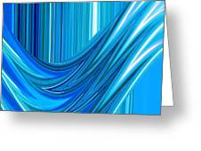 Moveonart The Blue Wave Greeting Card