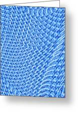 Moveonart Turquoise Knit Greeting Card