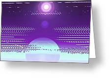 Moveonart Violet Light Of Charitable Consciousness Greeting Card