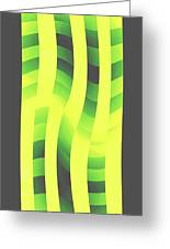 Moveonart Yellowlimegreenwave Greeting Card