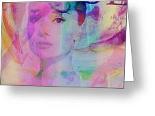 Movie Icons - Audrey Hepburn Vi Greeting Card