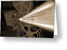 Movie Projector  Greeting Card by Mike McGlothlen