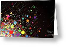 Moving Spheres. Greeting Card
