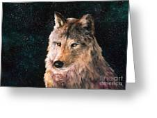 Moving Wolf Greeting Card