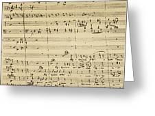 Mozart: Requiem Excerpt Greeting Card