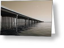 Mprints - Hwy 90 Bridge Greeting Card
