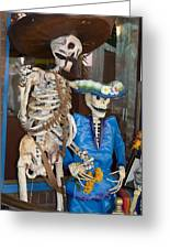 Mr And Mrs Death Greeting Card