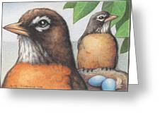 Mr And Mrs Robin Are Expecting Greeting Card
