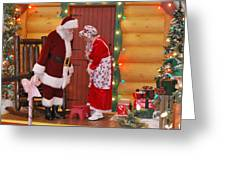 Mr And Mrs S Claus Greeting Card