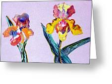 Mr. And Mrs. Yellow Iris Greeting Card