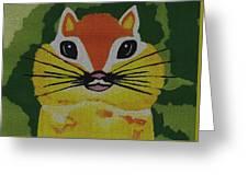 Mr Chipmunk Greeting Card