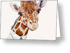 Mr Giraffe Greeting Card