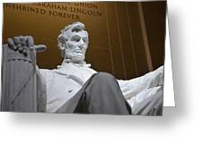 Mr. Lincoln Greeting Card
