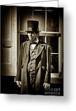 Mr Lincoln Greeting Card