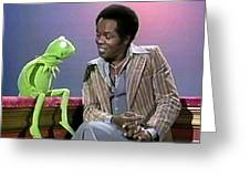 Mr Lou Rawls - Kermit The Frog Greeting Card